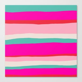 Candy Stripe Christmas Canvas Print