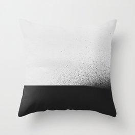 black 00 Throw Pillow