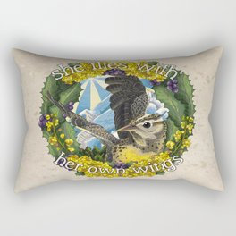 She Flies With Her Own Wings Rectangular Pillow