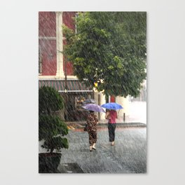 Wet Day in the City Canvas Print