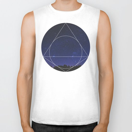 Magical Universe - Geometric Photographic Biker Tank