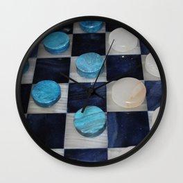 Checkers Wall Clock