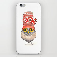 mitten owl iPhone & iPod Skin