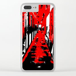 Hallway in red Clear iPhone Case