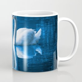 Beautiful Swan Blue Lake Coffee Mug