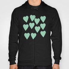 Hearts Mint Hoody