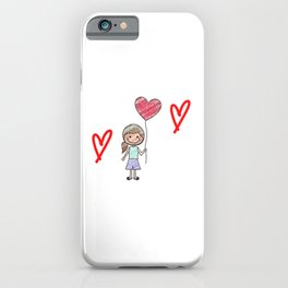 Girl With Balloon iPhone Case