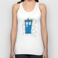 tardis Tank Tops featuring blue box by Matthew Taylor Wilson