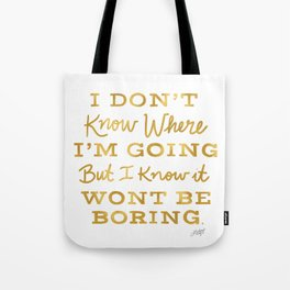 Bowie Quote - Gold Palette Tote Bag