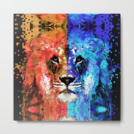 Lion Art - Majesty - Sharon Cummings Metal Print