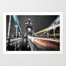 Tower Bridge at night Art Print