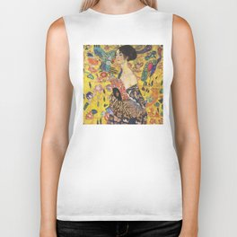 Gustav Klimt Lady With Fan  Art Nouveau Painting Biker Tank