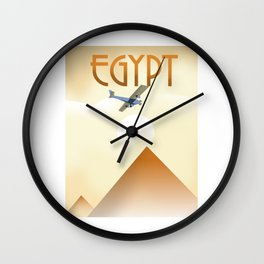 Egypt Travel poster Wall Clock