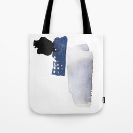 Navy Blue Abstract Tote Bag