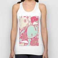 whales Tank Tops featuring Whales by Amy Gale