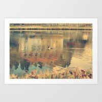lonely Art Prints featuring Lonely by Rose Etiennette