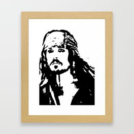 pirates caribbean sea Framed Art Print