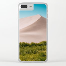 Sky, Sand & Green Clear iPhone Case