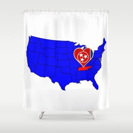 State of Tennessee Shower Curtain