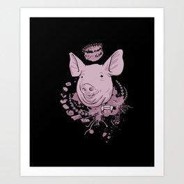 pig parts Art Print