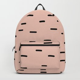 Peach dash abstract stripes pattern Backpack