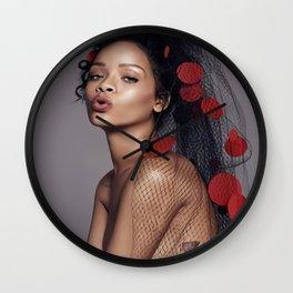 rihanna,pop music poster,High quality canvas poster,no frame. Wall Clock