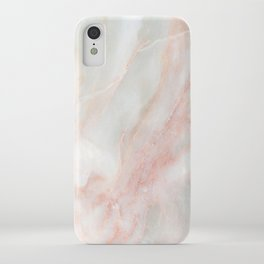 Softest blush pink marble iPhone Case