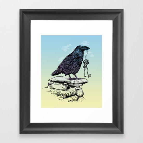 Raven's Keys Framed Art Print