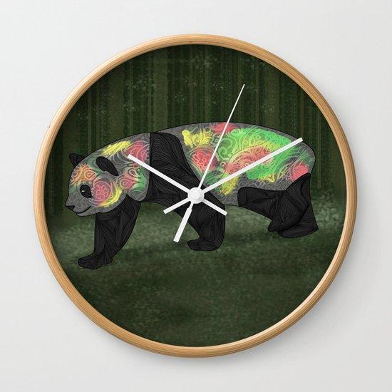 Panda Night Wall Clock
