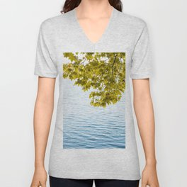 Relaxing time by the lake Unisex V-Neck