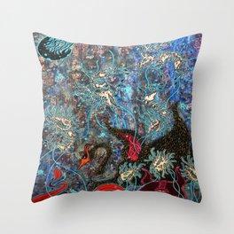 Obsidian night Throw Pillow