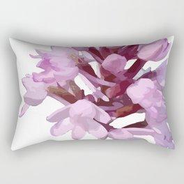 Pink Orchid Wildflower Rectangular Pillow