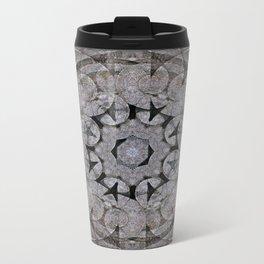 Gothic Romanesque Stone Architecture Mandala Pattern Metal Travel Mug