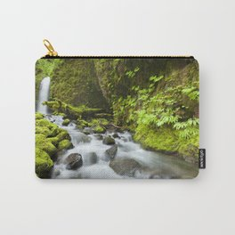 I - Remote waterfall in lush rainforest, Columbia River Gorge, Oregon, USA Carry-All Pouch