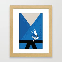 Judo, one of the three martial arts i learnt personally. Framed Art Print
