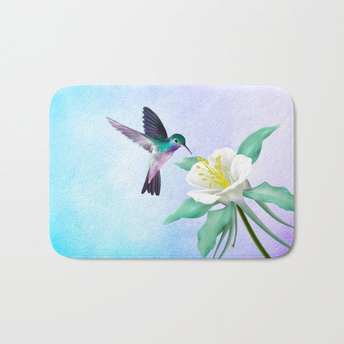 hummingbird. Bath Mat