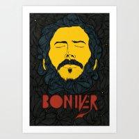bon iver Art Prints featuring Bon Iver by Oliveira37/Tadeu Amaral