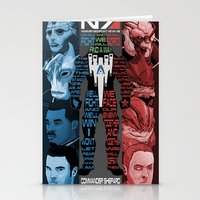 n7 Stationery Cards featuring N7: The Male Squad by Alex Rodway Illustration