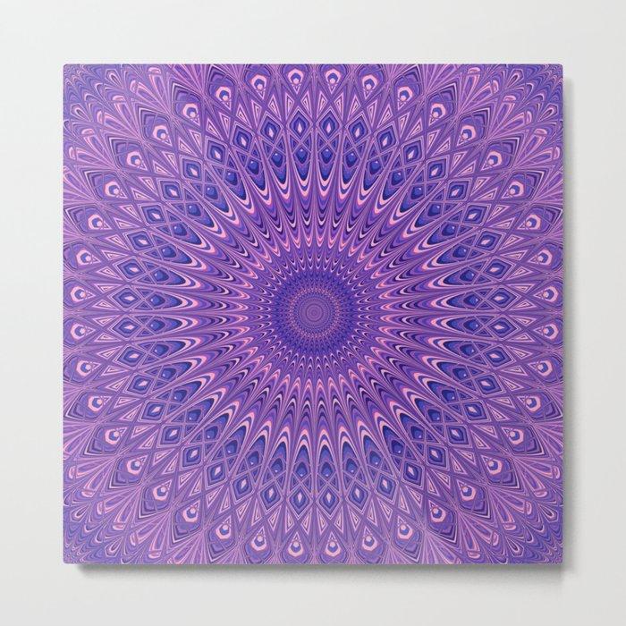 Purple mandala 2 Metal Print