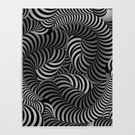Black and White Illusion Pattern Poster