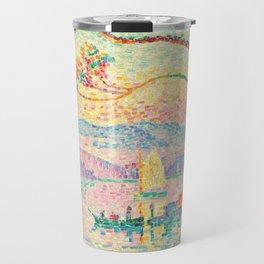 "Paul Signac ""Port d'Antibes"" Travel Mug"