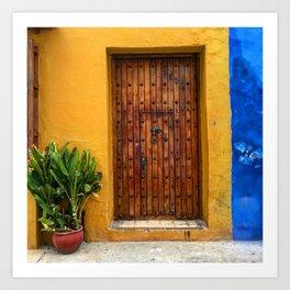 Door of Cartagena Colombia Art Print