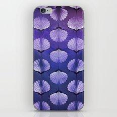 Blue sea geometric pattern texture on blurred background. Graphic illustration of seashells template iPhone & iPod Skin