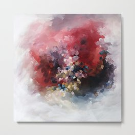 MORE - An abstract acrylic painting, flowing movement. Metal Print
