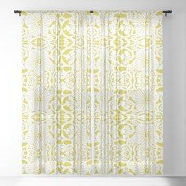 Not Your Nana's Brocade: Mustard Sheer Curtain