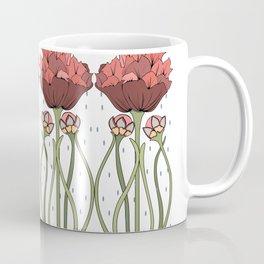 Art Nouveau ornament with peonies Coffee Mug