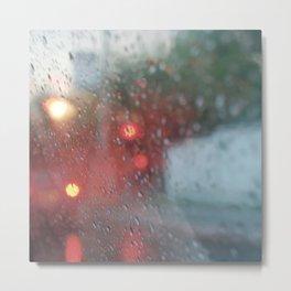 """Rain drops vibes"" Metal Print"