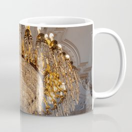 Reproduction of antique chandelier with crystals Coffee Mug