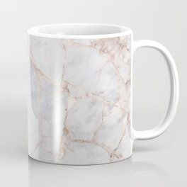 White Italian Marble & Gold Coffee Mug