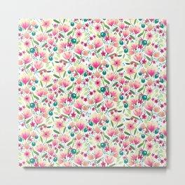 Pink Blooming Metal Print